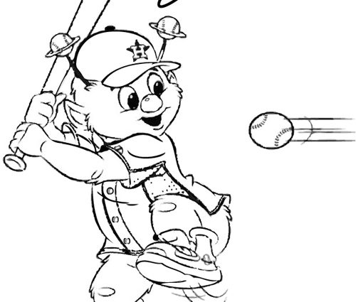 500x425 Houston Astros Coloring Pages Orbit Coloring Pages For Download