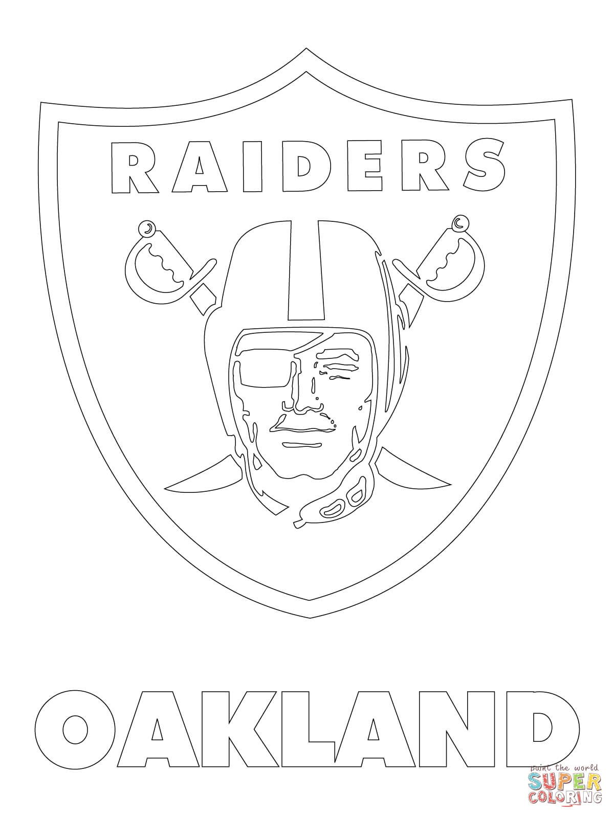 1200x1600 Click The Oakland Raiders Logo Coloring Page Free Printable Pages