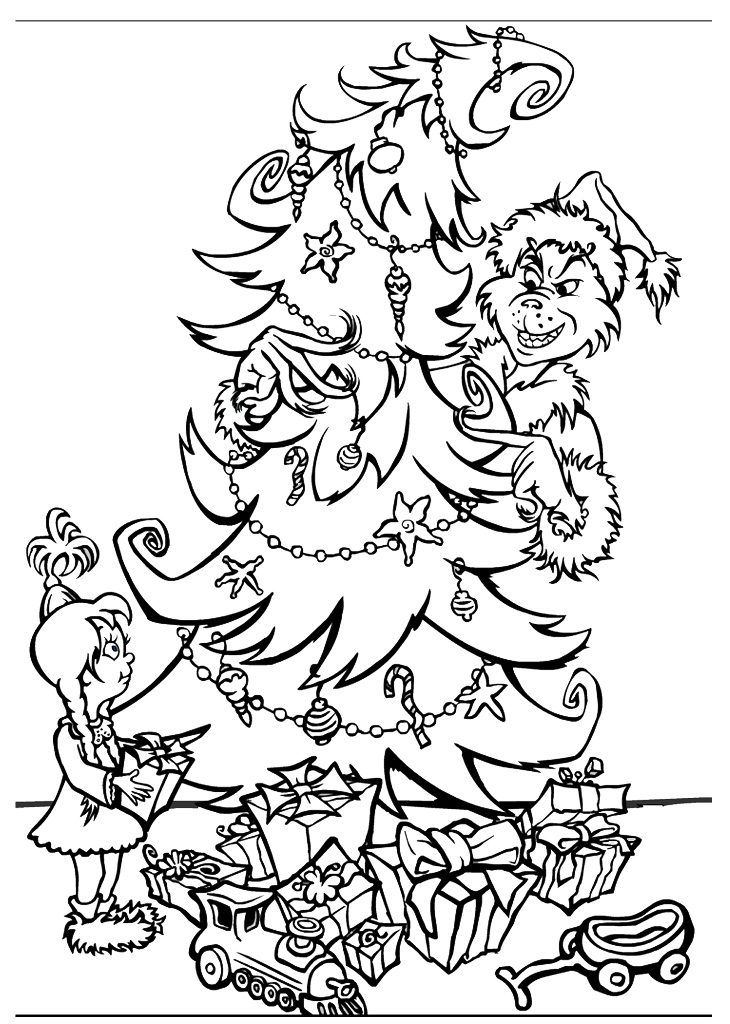730x1024 How Grinch Stole Christmas Coloring Pages Astounding How