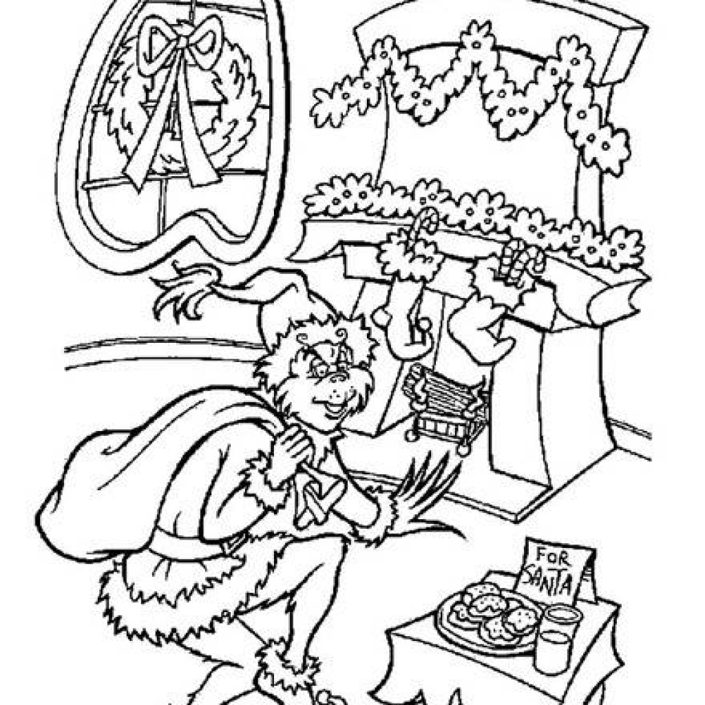 1024x1024 The Grinch Coloring Pages Beautiful How Stole Christmas Grinch