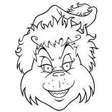 220x220 Grinch Head Coloring Page