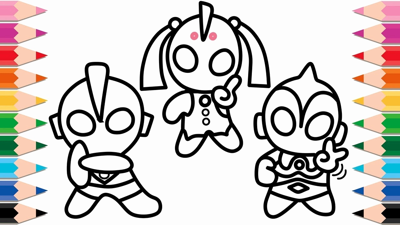 1280x720 fun coloring pages for kids unique how to draw ultraman for kids