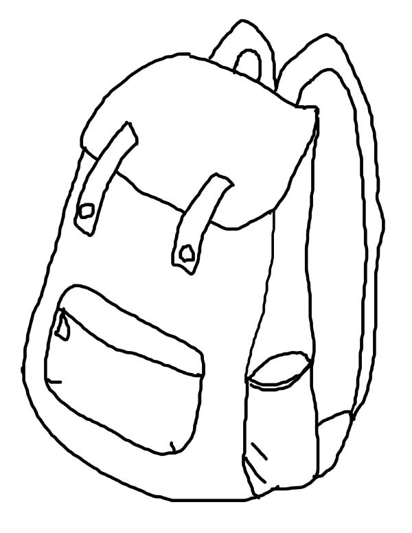 600x776 How To Draw Backpack Coloring Pages Best Place To Color