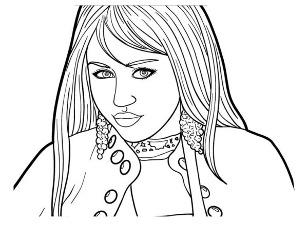 600x463 How To Draw Hannah Montana Coloring Page