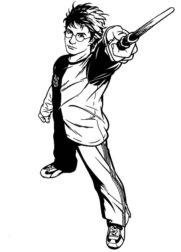 600x834 How To Draw Harry Potter Coloring Page
