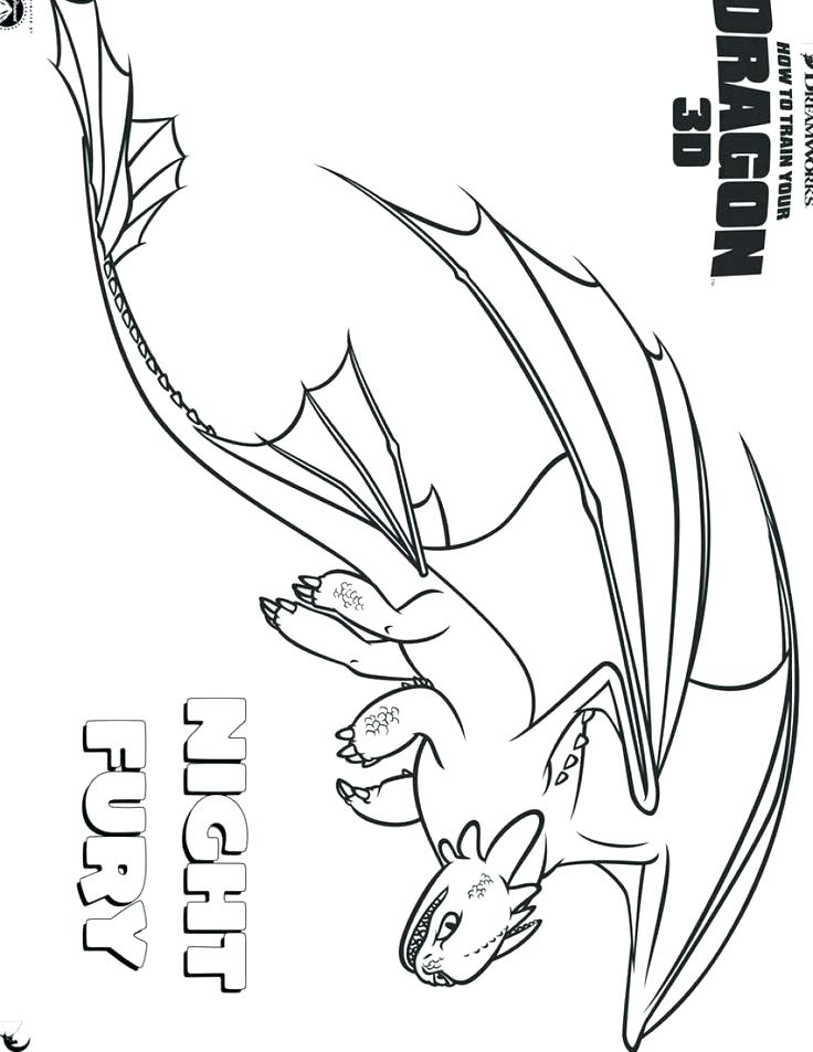 736x953 Night Fury Coloring Page How To Train Your Dragon Coloring Page