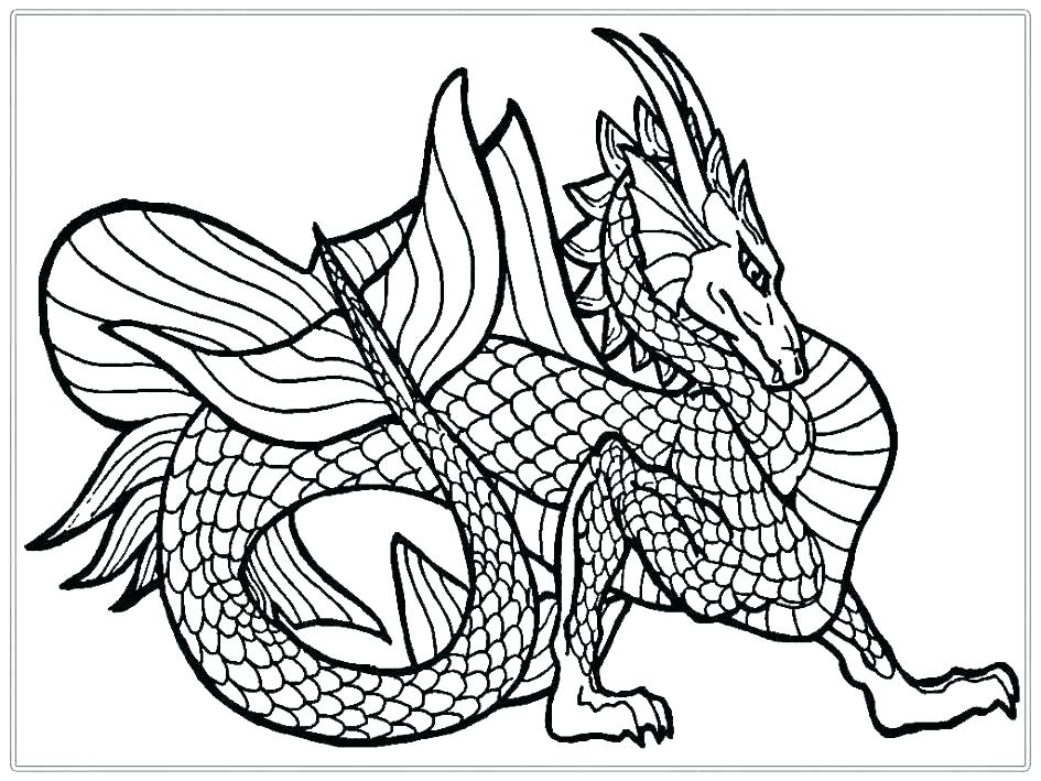 945x709 Free Dragon Colouring Pages For Adults Coloring Page Printable