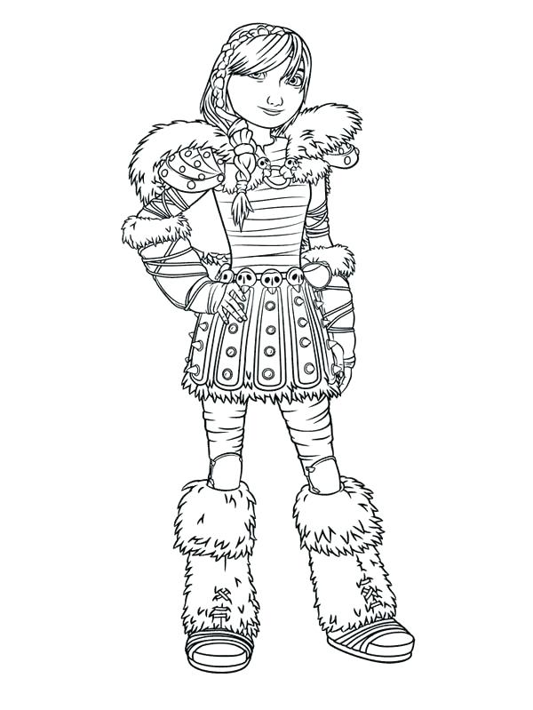 600x799 How To Train Your Dragon Picture Of Astrid Coloriage Coloring