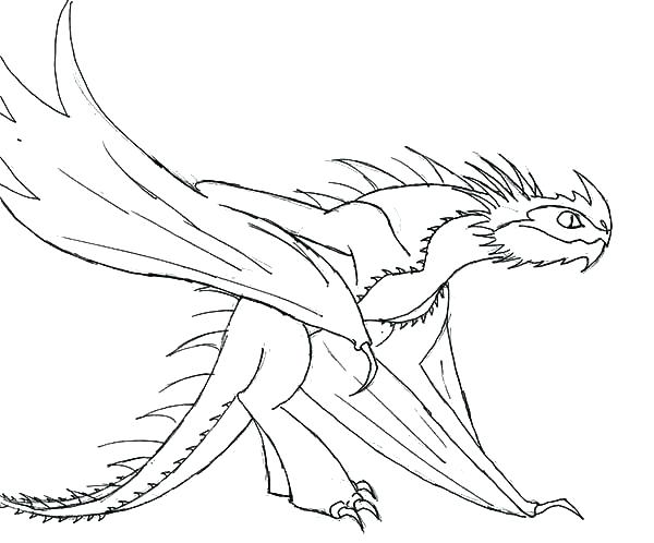600x498 Coloring Pages Of How To Train Your Dragon Night Fury Coloring