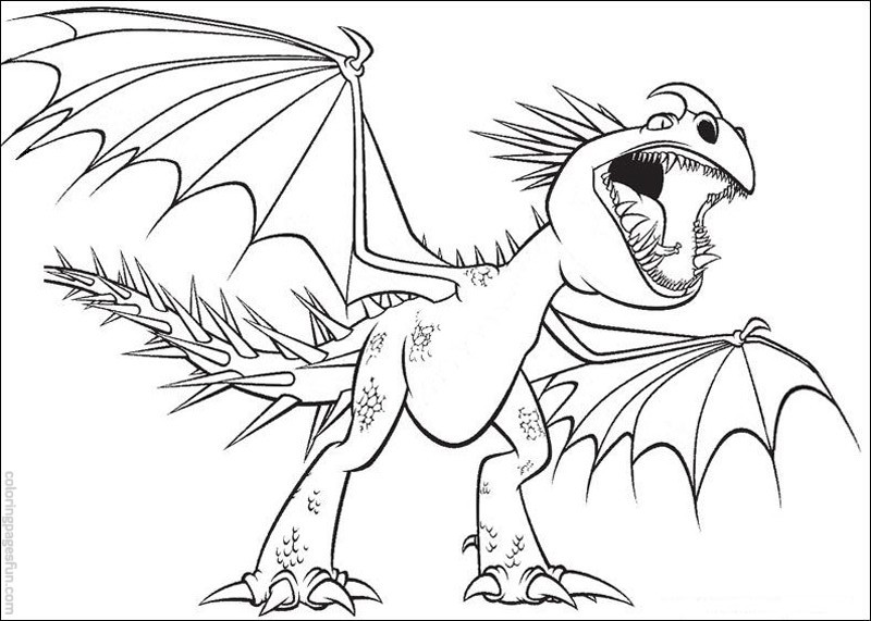 800x571 How Train Your Dragon Coloring Pages