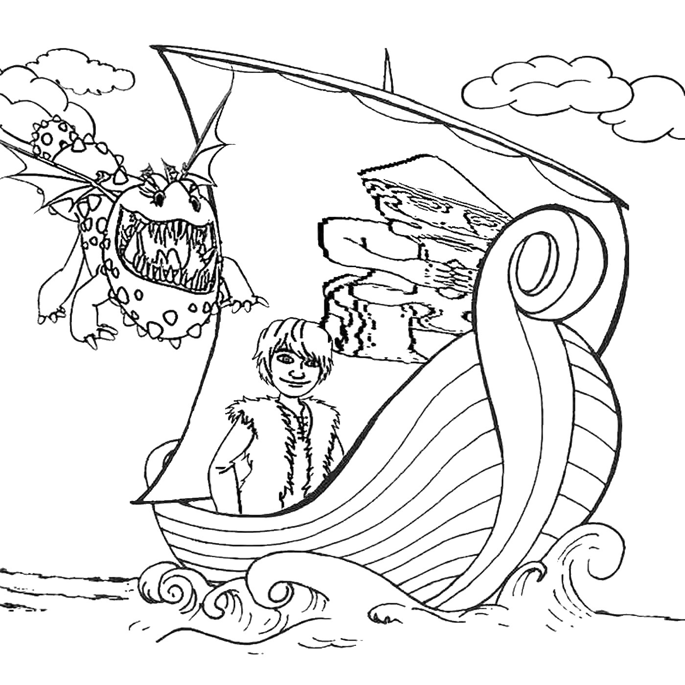 1400x1400 How To Train Your Dragon Coloring Pages