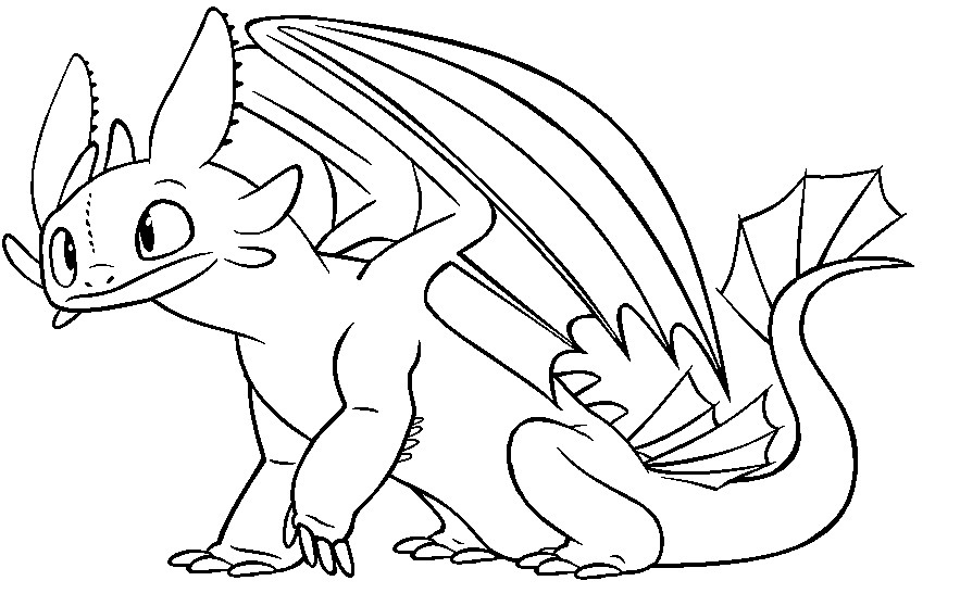 How To Train Your Dragon Coloring Pages Toothless At Getdrawings