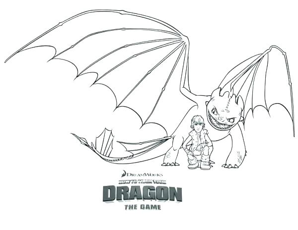 600x464 How To Train Your Dragon Toothless Colouring Pages Baby Coloring