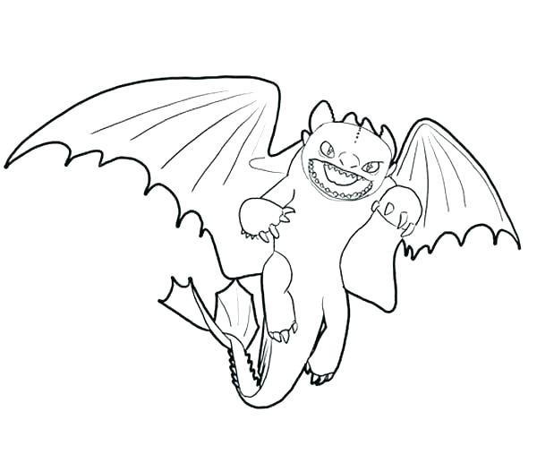 600x527 Toothless Coloring Pages Night Fury Coloring Pages Toothless