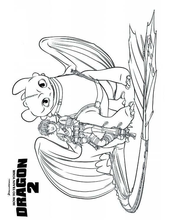 593x743 Coloring Page How To Train Your Dragon