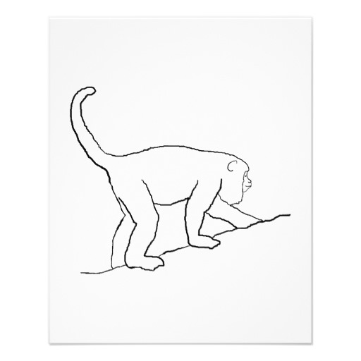 howler monkey coloring page 16