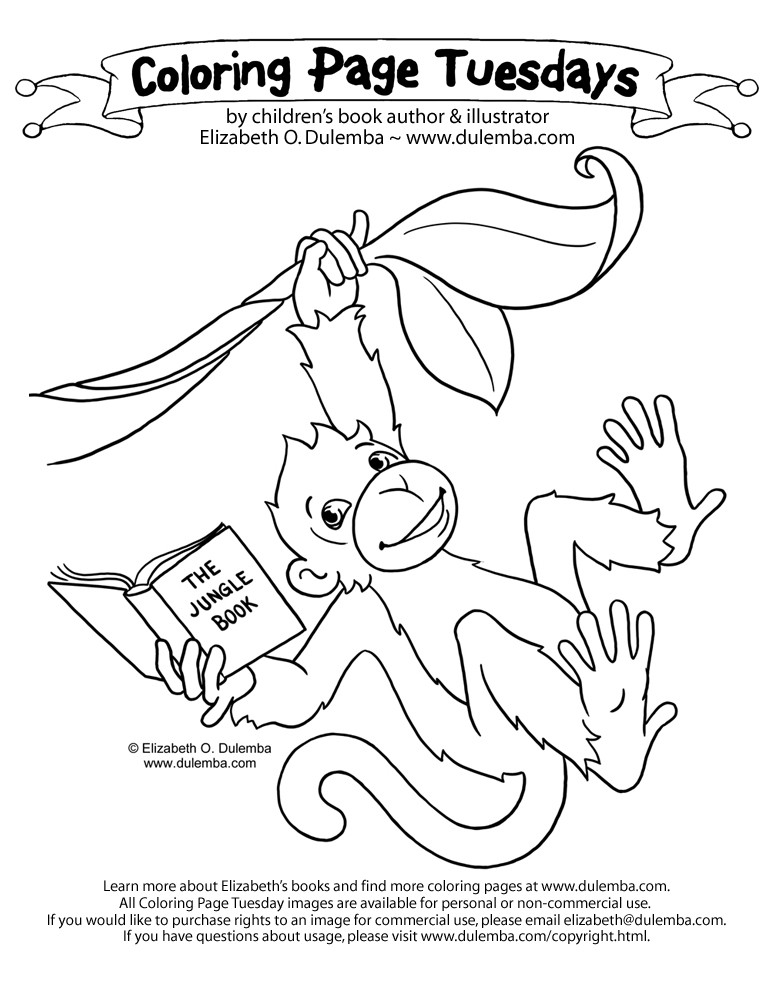 howler monkey coloring page 18
