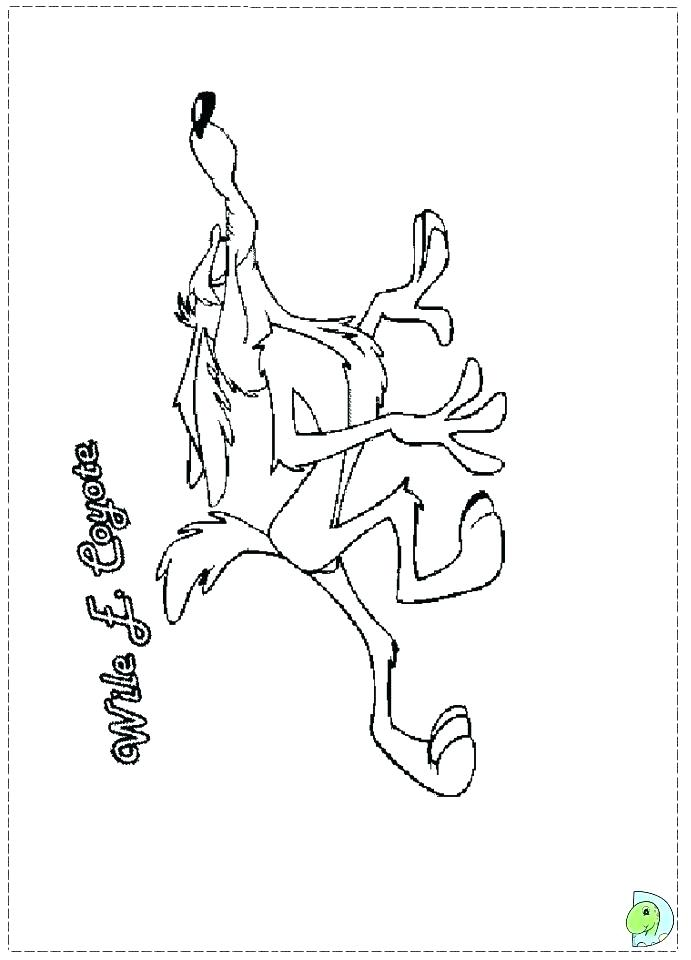 691x960 Coyote Coloring Page Coyote Coloring Tunes Wile E Coyote Coloring
