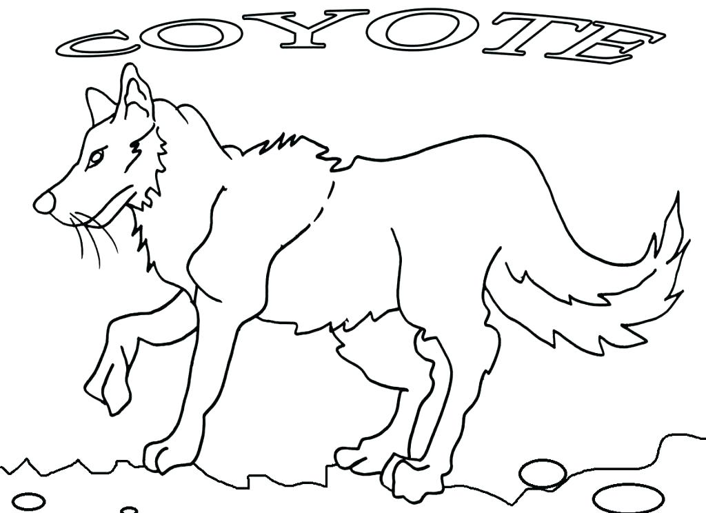 1024x744 Howling Coyote Coloring Page Kids Coloring Coyote Coloring Page