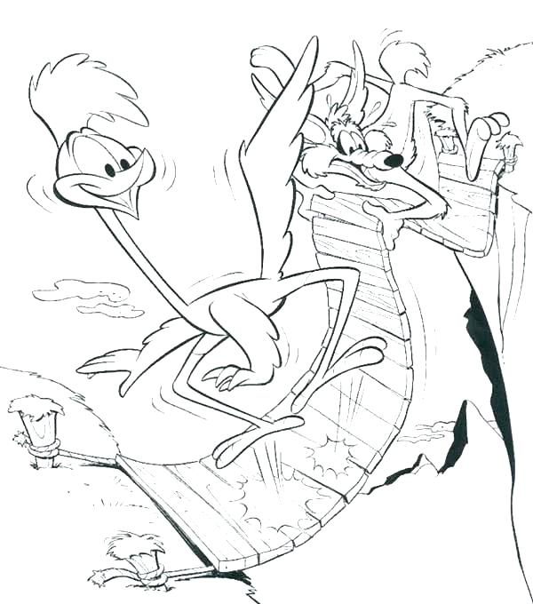 600x680 Coyote Coloring Coyote Coloring Pages Wile E Coyote Coloring Pages