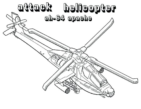600x463 Helicopter Coloring Pages Attack Helicopter Ah Helicopter Coloring