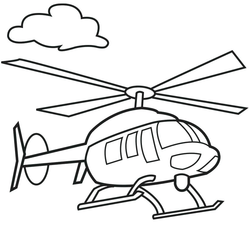 842x842 Helicopter Coloring Pages Complete Collection Of Helicopter
