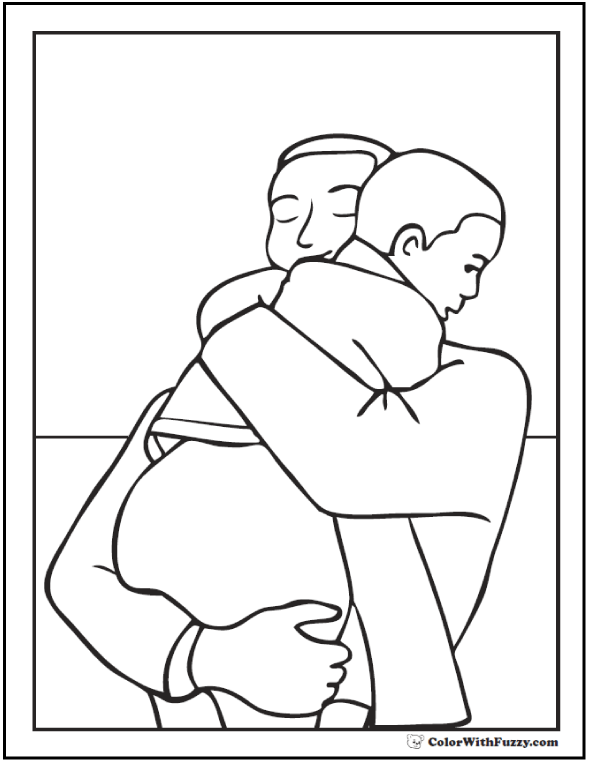 The Best Free Father Coloring Page Images Download From 445