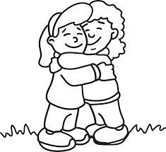 235x215 Love Expressed Through Doodles Hug Coloring Page