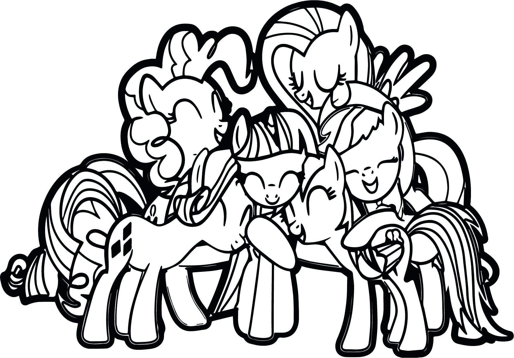 1755x1222 My Little Pony Friendship Group Hug Coloring Page Pokemon