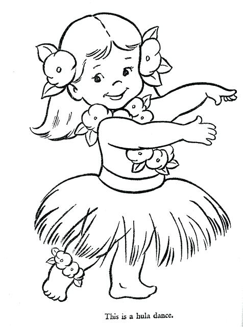 476x640 Luau Coloring Pages Hula Girl Coloring Page Com In Inspirations