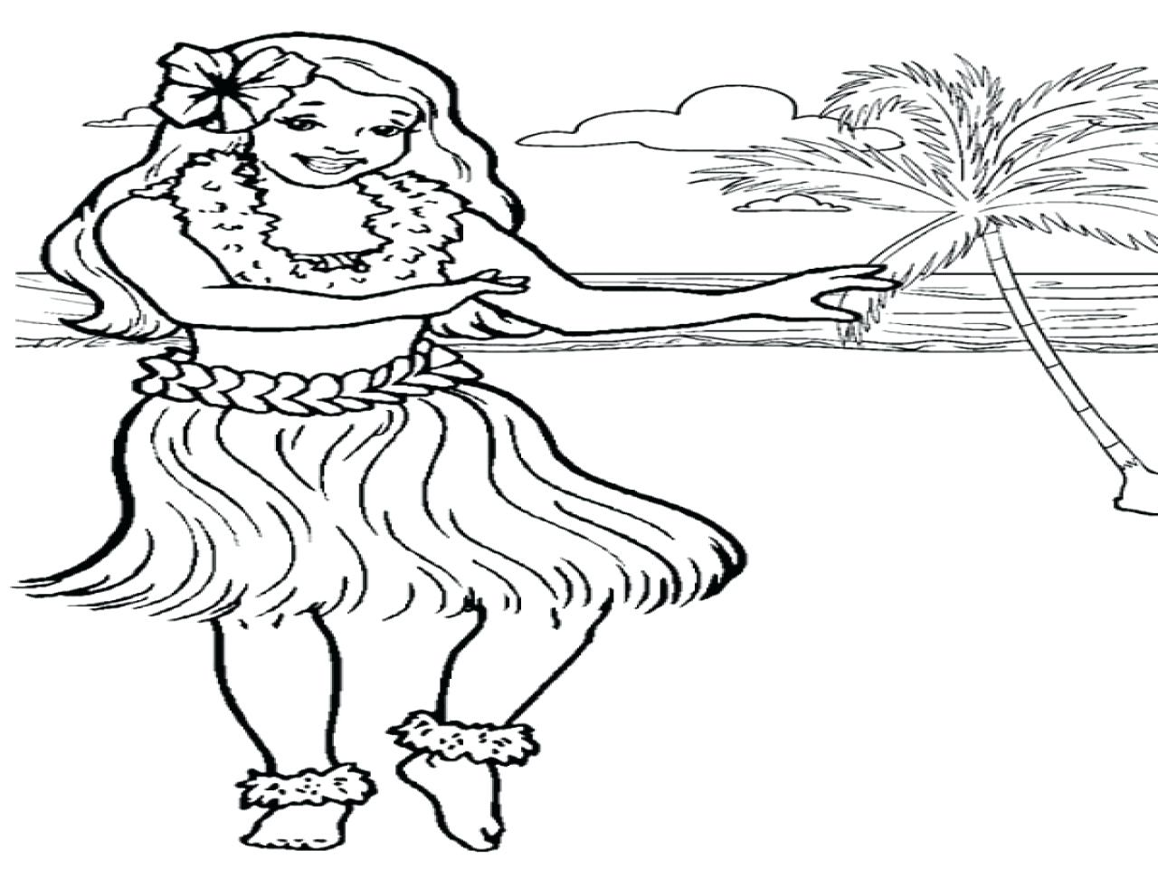 1280x960 Coloring Pages Christmas Tree Hula Dance Is Hawaiian Traditional