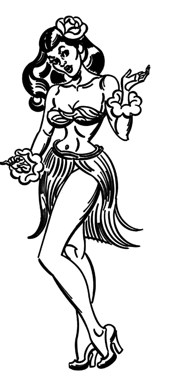 600x1360 Approved Hula Girl Coloring Page Mainstream Pi