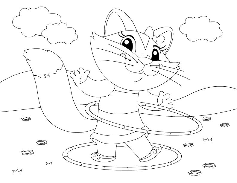 792x612 Hula Hoop Coloring Pages