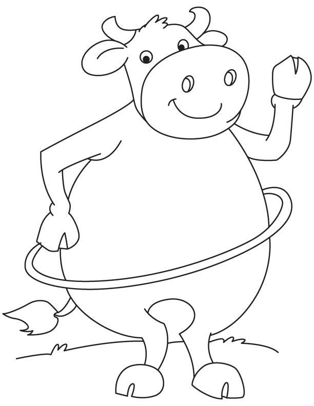 612x792 Hula Hoop Buffalo Coloring Page Coloring Pages