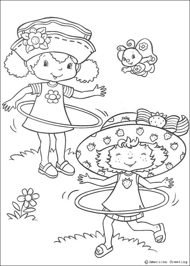 607x850 Strawberry Shortcake Coloring Pages With Hula Hoops!