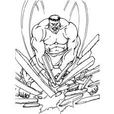 Hulk Cartoon Coloring Pages