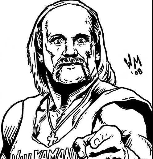 496x514 Hulk Hogan Coloring Page Printable Paul George Colouring Pages