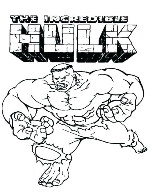 510x629 Incredible Hulk Coloring Page Hulk Coloring Pages Printable