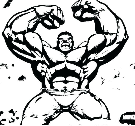 This is a graphic of Hulk Printable Coloring Pages with bodybuilder