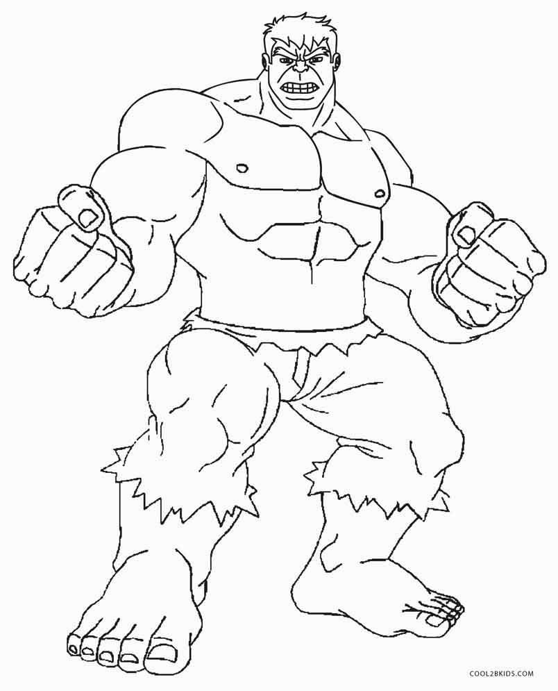 804x995 Free Printable Hulk Coloring Pages For Kids