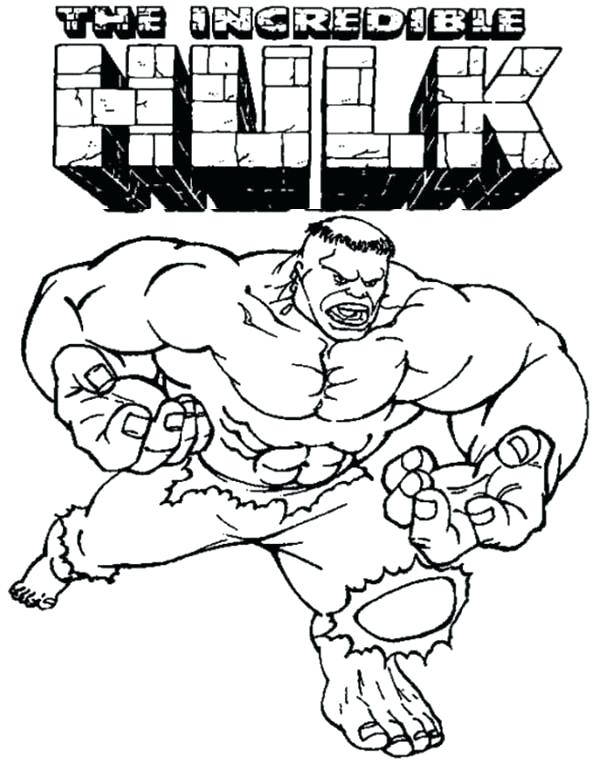 600x764 Red Hulk Printable Coloring Pages Kids Coloring Incredible Hulk