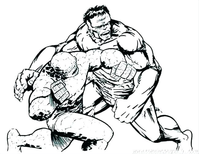 650x503 Hulk Smash Coloring Pages