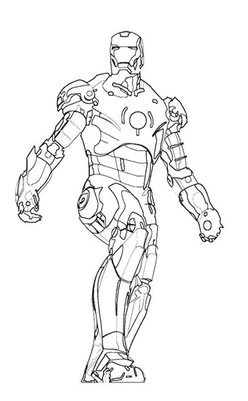 500x806 Iron Man Hulkbuster Coloring Pages Projects To Try