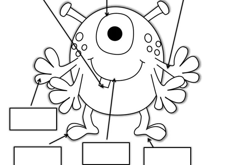 761x544 Impressive My Body Parts Coloring Pages With Details Learn