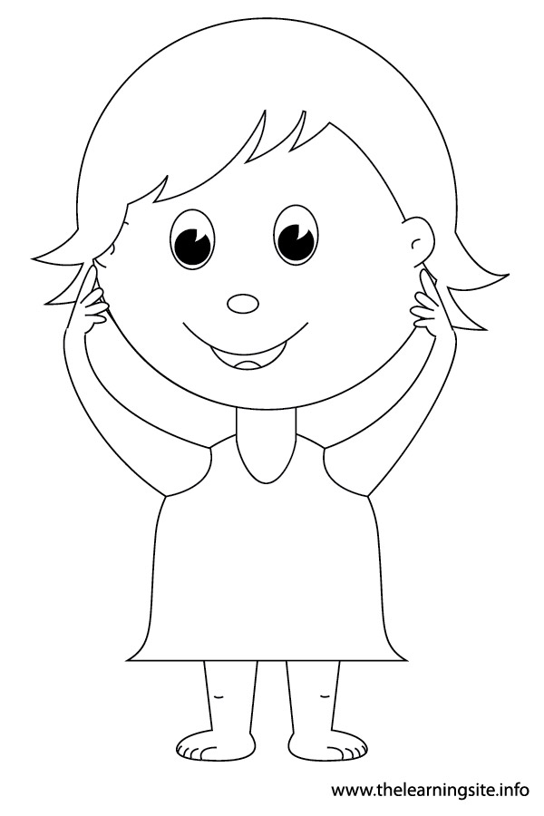 600x900 Free Coloring Pages Of Kid Body Outline, Body Parts Coloring Pages