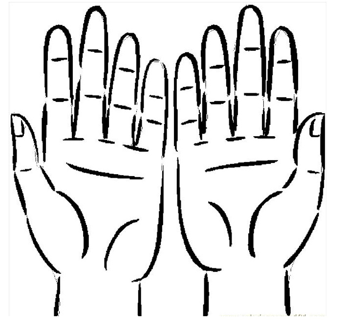 700x664 Two Hands Coloring Pages Coloring Pages