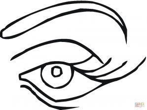 298x223 Eye Coloring Page Pictures Ideas Pages Human Free Printable