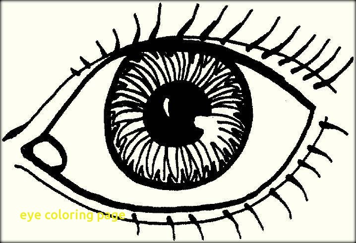 718x491 Eye Coloring Page With Human Eyes Coloring Pages For Preschoolers