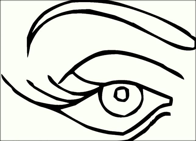 644x462 Human Eyes Coloring Pages For Preschoolers
