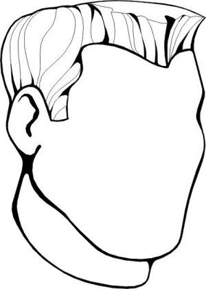 Human Face Coloring Page